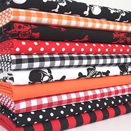 10 FAT QUARTER BUNDLE Polycotton Halloween Bundle