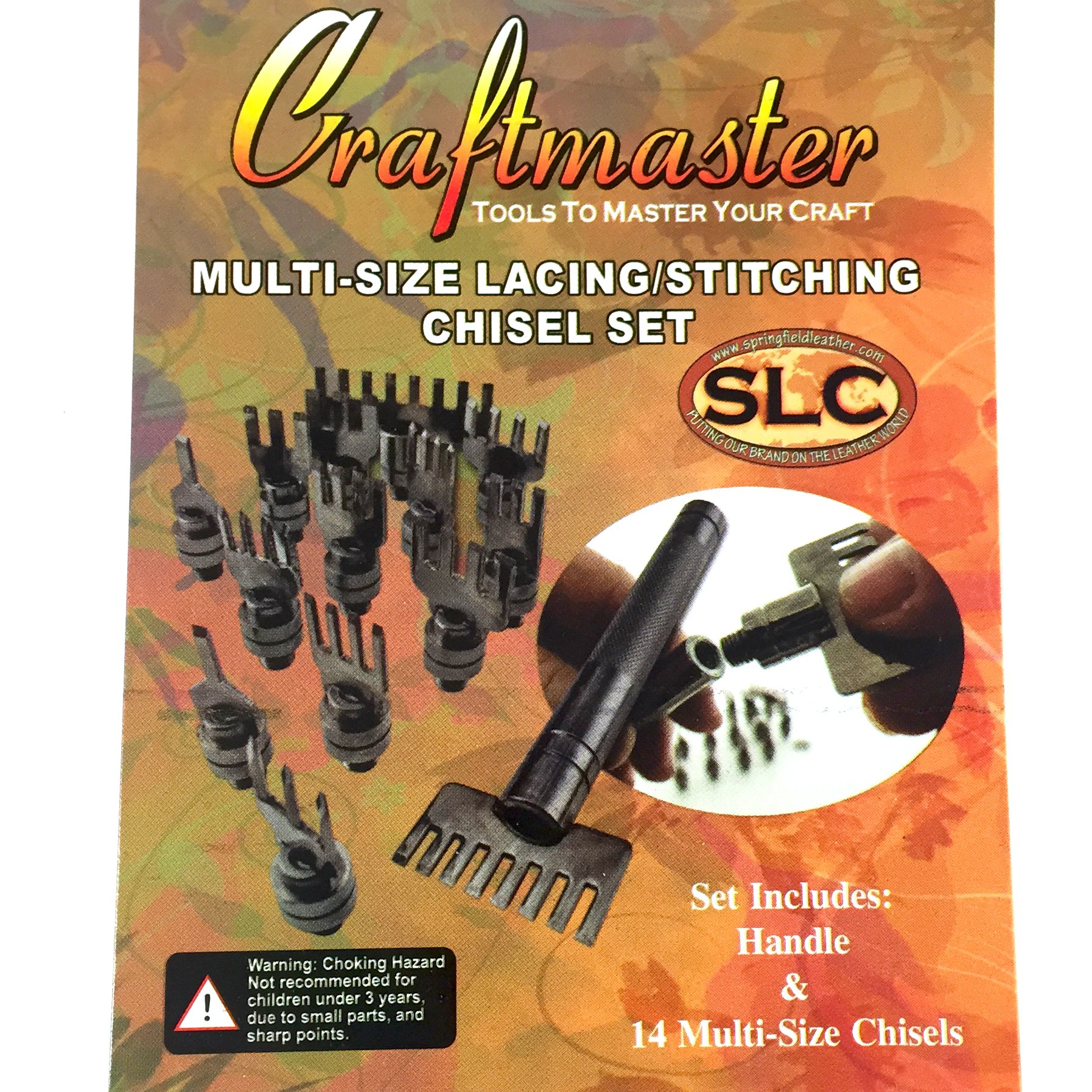Springfield Leather Company Lace and Stitch 15 Piece Chisel Set