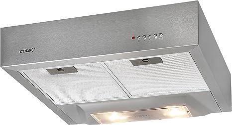 CATA S Box Campana, 57 Decibelios, 3 Velocidades, Acero inoxidable, 60 x 50 x 14,2 cm: Amazon.es: Grandes electrodomésticos
