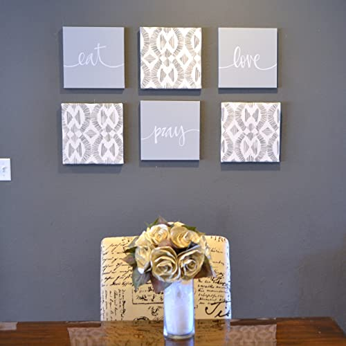 Amazon Gray Eat Pray Love Wall Art Set Drink Be Merry Large