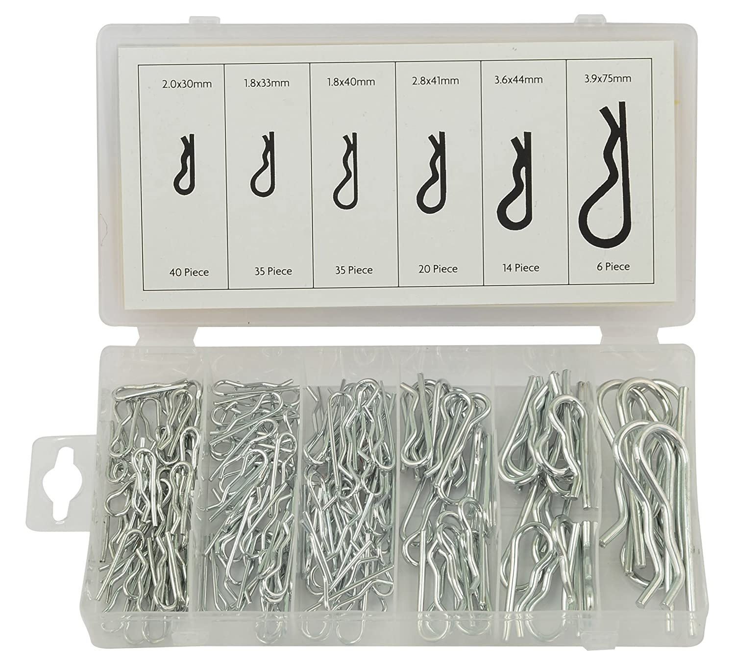 Rolson 61286 Hair Pin Assortment - 150 Pieces Rolson Tools