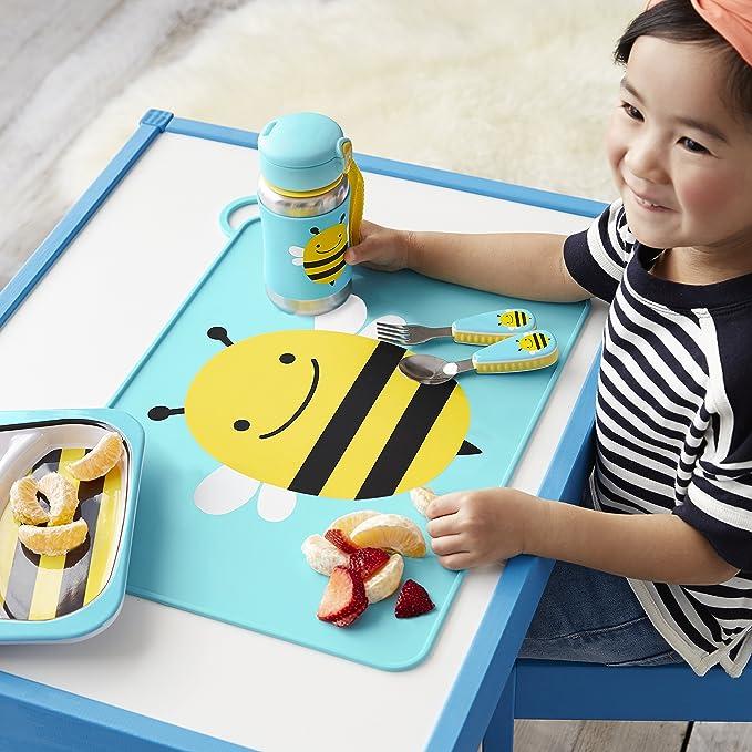 Skip Hop SH252057 1pieza Manteles individuales Rect/ángulo, Azul, Rosa, Imagen, Silicona, Zoo, 419 mm Rect/ángulo Azul Rosa mantele individuale s