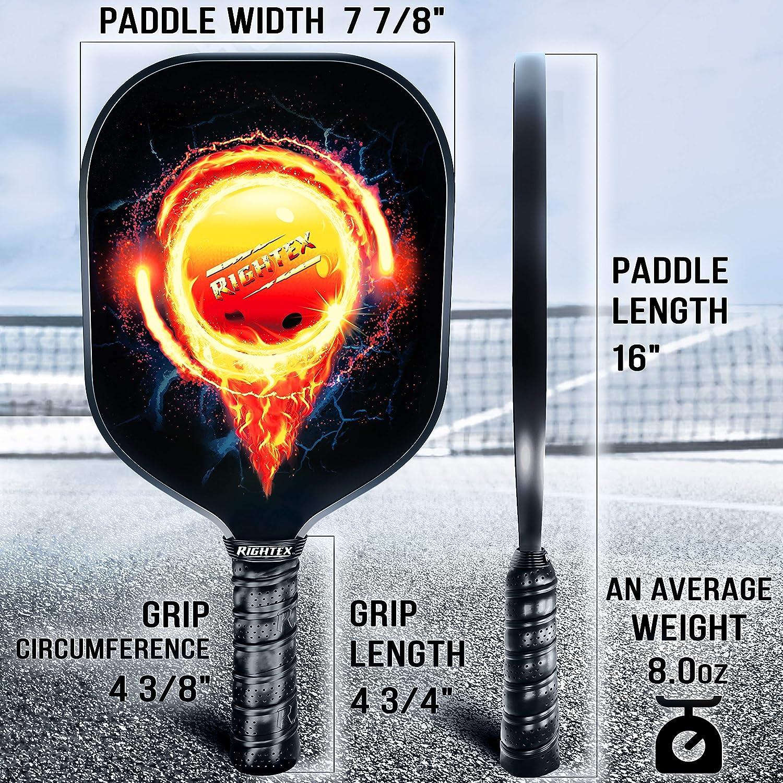 Amazon.com: Rightex Pickleball Paddle Set – 2 raquetas de ...