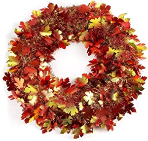 amscan Fall Foliage Wreath, 18 inches, One Size