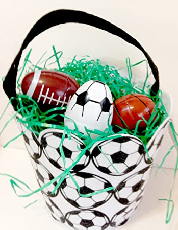 Amazon soccer easter basket for boys and girls includes five soccer easter basket for boys and girls includes five sports ball fillable eggs football basketball for negle Image collections