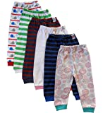 NammaBaby Baby Pajama Pant With Rib MIXED PRINTS - SET OF 6