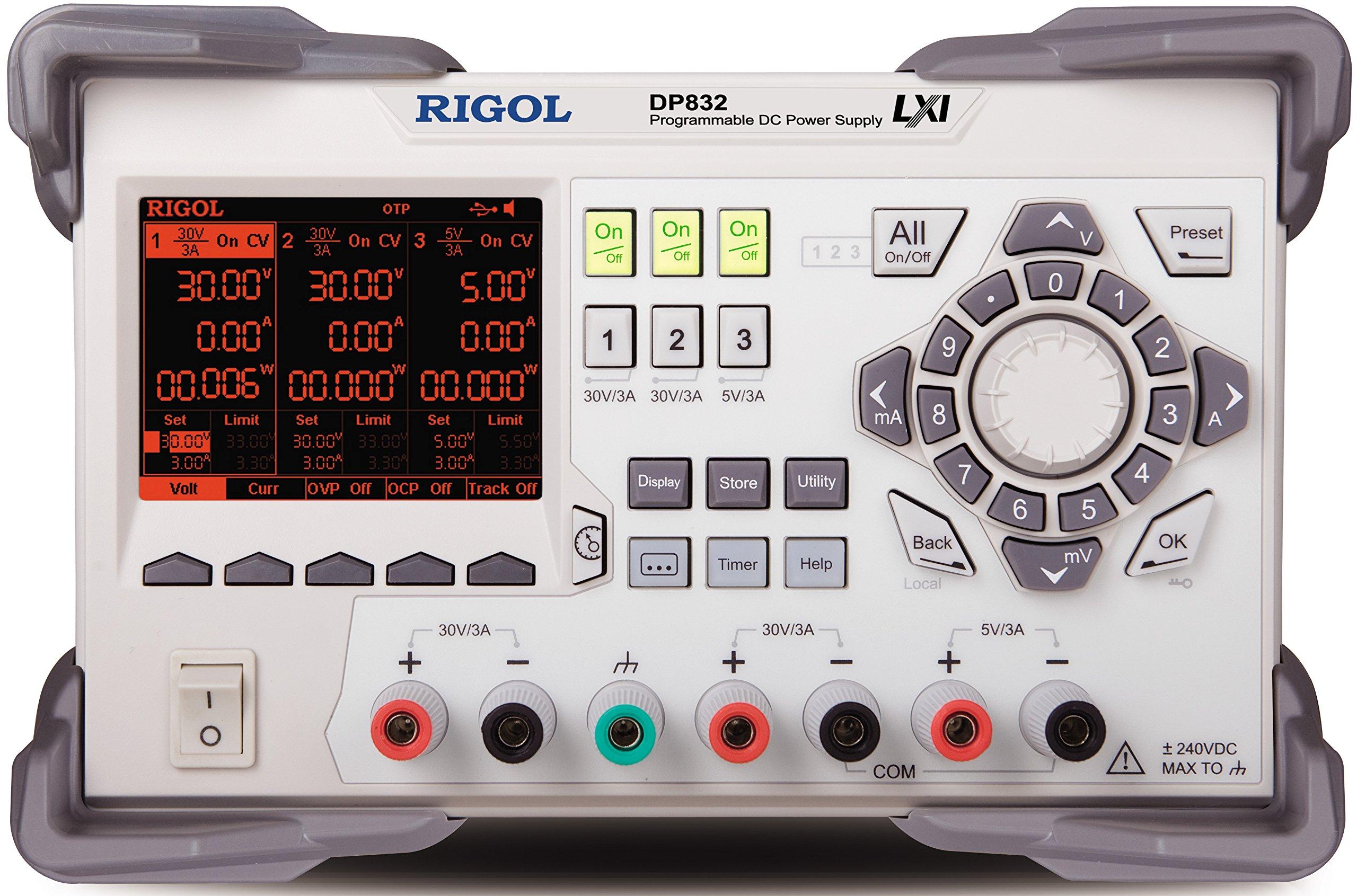 Rigol DP832 Triple Output 195 Watt Power Supply