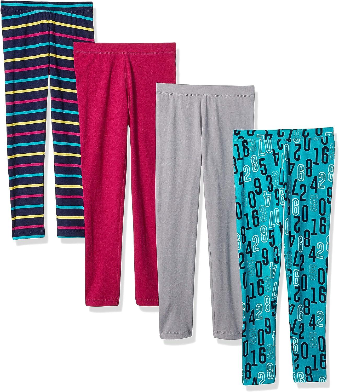 Confezione da 4 leggings da bambina Marchio Spotted Zebra