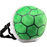 UiUoU Green Koopa Troopa Wind Plush Backpack Turtle Shell Bag Super Mario Bros Cosplay Costume