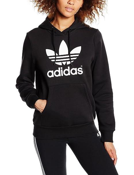 À Shirt taille Fabricant Adidas Fr Xs Sweat Capuche Logo Femme Noir Trèfle q1nfIB