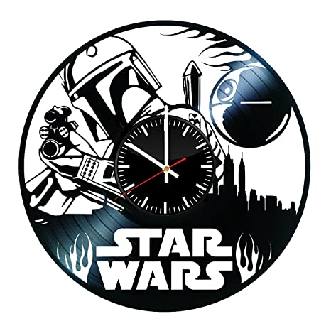 Amazon.com: star wars película reloj de pared – legendario ...