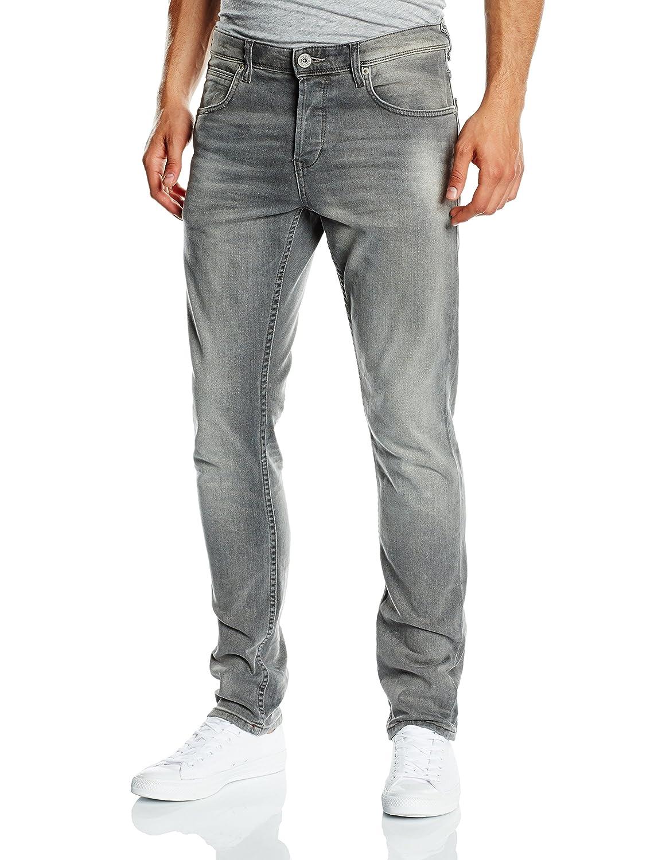 TOM TAILOR Denim Herren Slim Jeanshose Aedan Grey Stretch Denim/501 62030360912