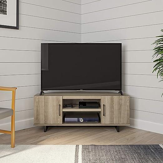 Ameriwood Home Southlander - Mueble de esquina para televisor (madera de roble, 127 cm): Amazon.es: Hogar