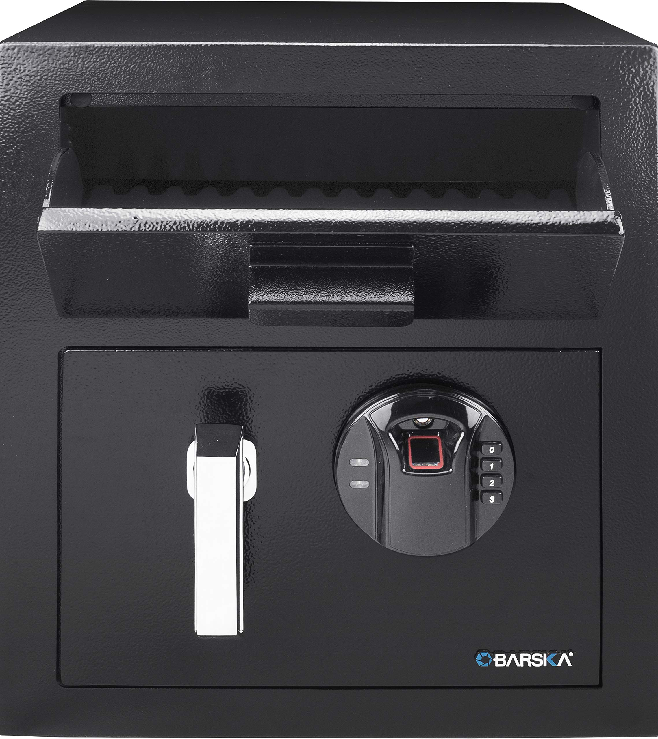 Biometric Fingerprint Digital Keypad Depository Safe Drop Slot Box 13.75 x 13.75 x 16