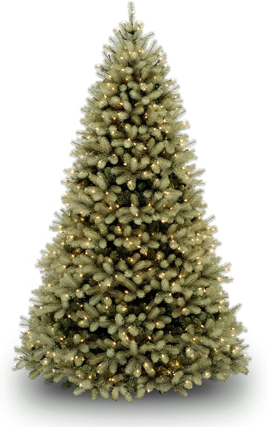 "National Tree 7.5 Foot ""Feel Real"" Downswept Douglas Fir Tree with 750 Dual Color LED Lights and On/Off Switch, Hinged (PEDD1-312LD-75X)"