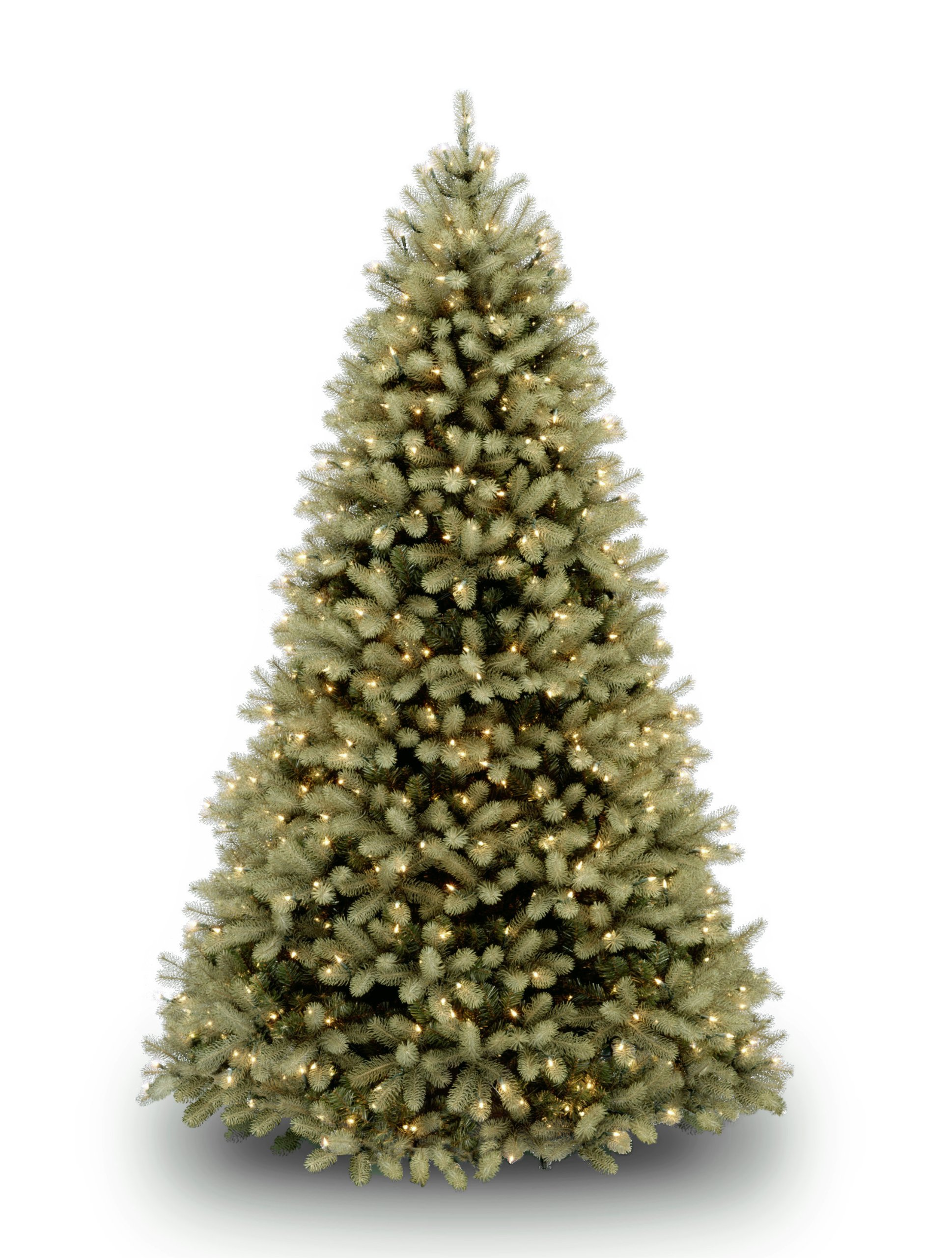National Tree 7.5 Foot ''Feel Real'' Downswept Douglas Fir Tree with 750 Dual Color LED Lights and On/Off Switch, Hinged (PEDD1-312LD-75X) by National Tree Company