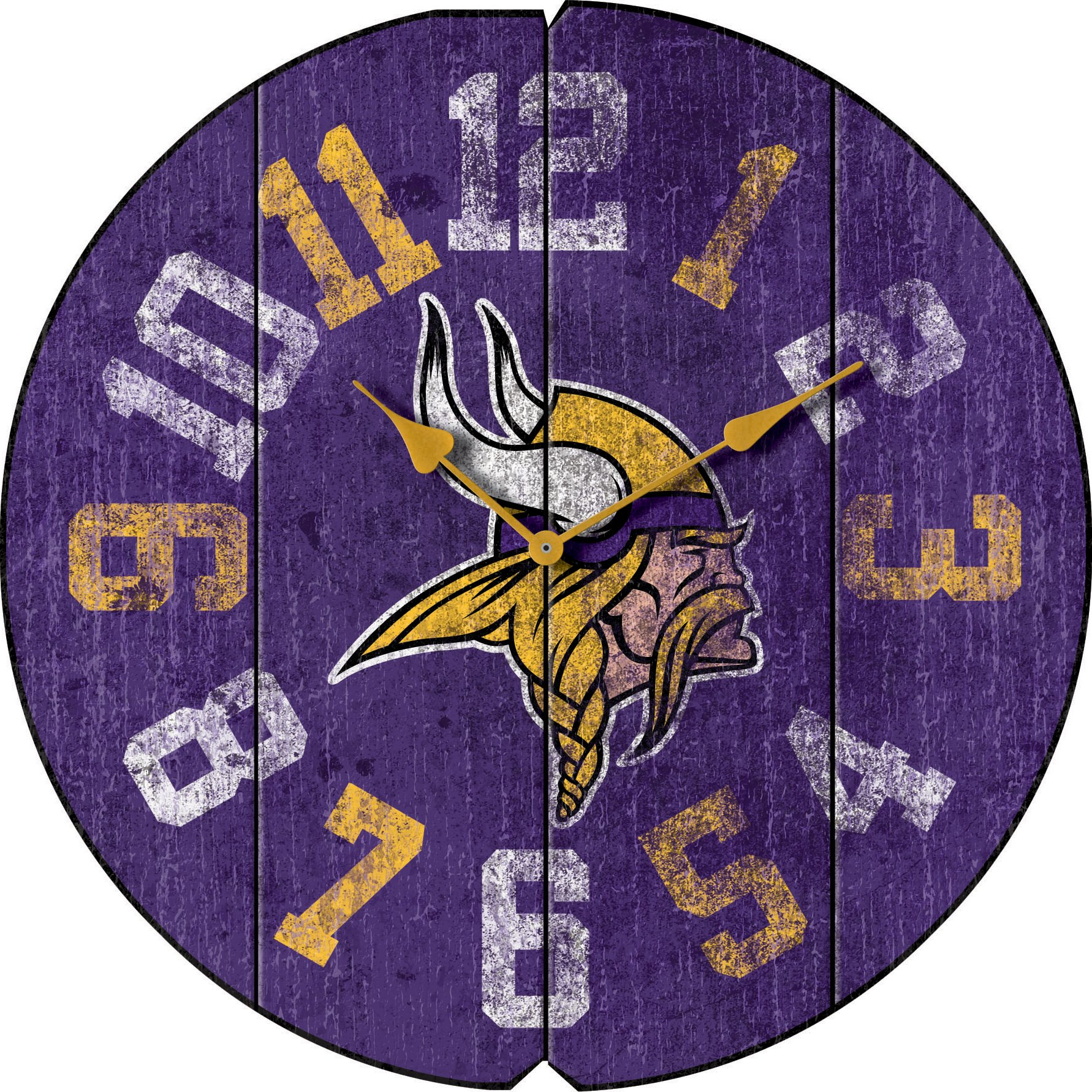 Imperial Officially Licensed NFL Merchandise: Vintage Round Clock, Minnesota Vikings by Imperial