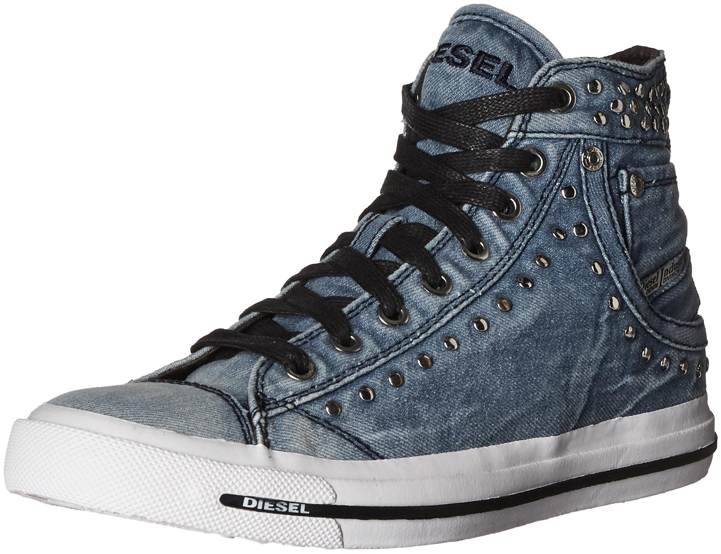 Diesel Women's Magnete Exposure Iv W Fashion Sneaker, Indigo, 8.5 M US