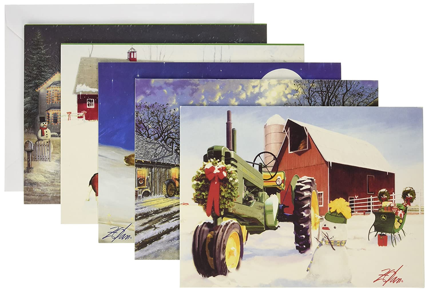 Amazon.com: MasterPieces John Deere Christmas Card Pack: Toys & Games