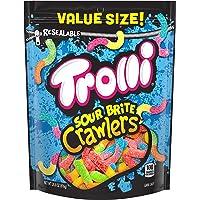 Trolli Sour Brite Crawlers Gummy Worms, 28 Ounce Bag Sour Gummy Worms