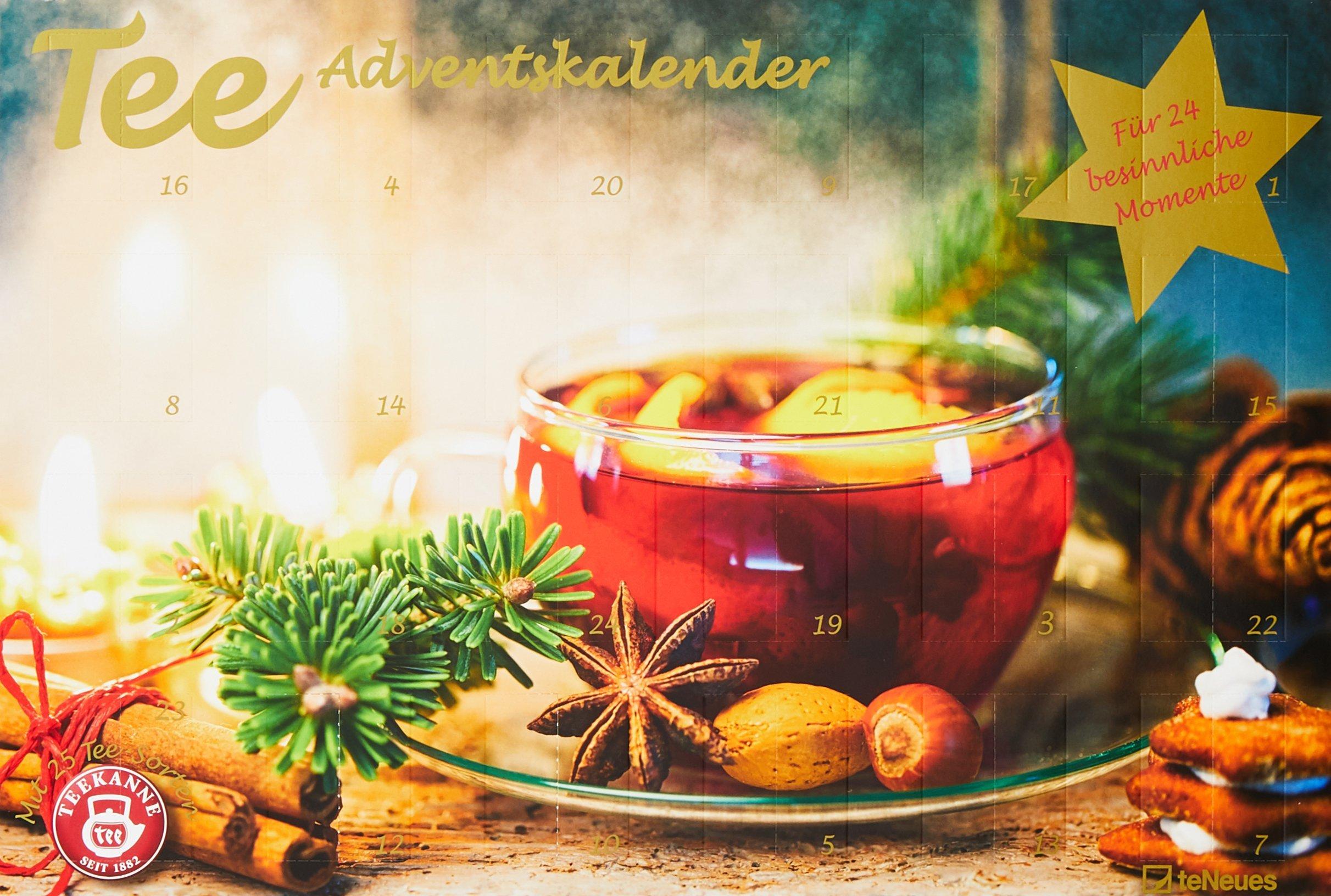 Tee-Adventskalender 2017 - Teekalender, Adventskalender, 25 Teekompositionen für eine genussvolle Adventszeit - 56 x 38 cm Kalender – Adventskalender, 15. Oktober 2017 B01MR06TZ6 Advent 2017 Geschenk Reisen / Bildbände / Europa
