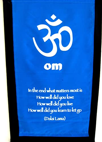 OMA OM Chakra Wall Hanging Inspirational Dalai Lama Wall Affirmation in The End Scroll Brand