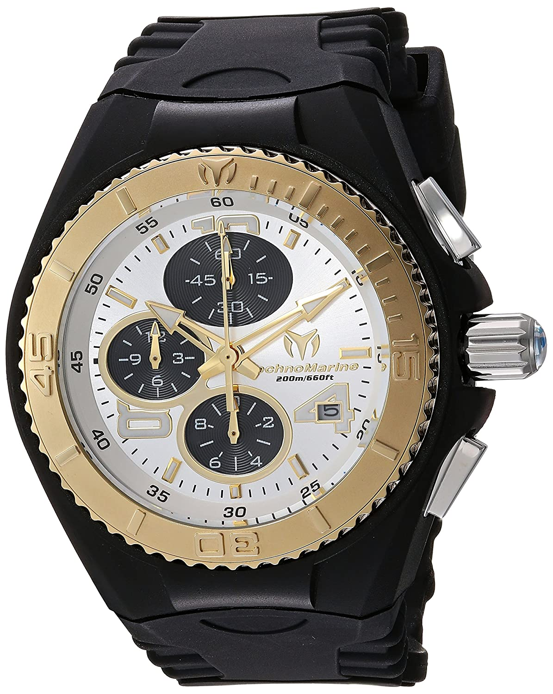 TechnoMarineレディースtm-115291クルーズクラゲクオーツ多機能シルバーダイヤル腕時計 B07641K43J