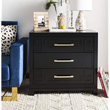 Safavieh Home Collection Raina Black and Gold 3 Chest of Drawers