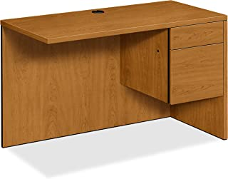 product image for HON Right Return Left Pedestal Desk, 48 by 24 by 29-1/2-Inch, Harvest