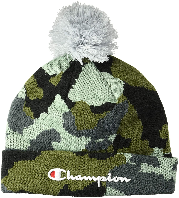 83bd1fc42b8 Amazon.com  Champion LIFE Men s Script Knit POM