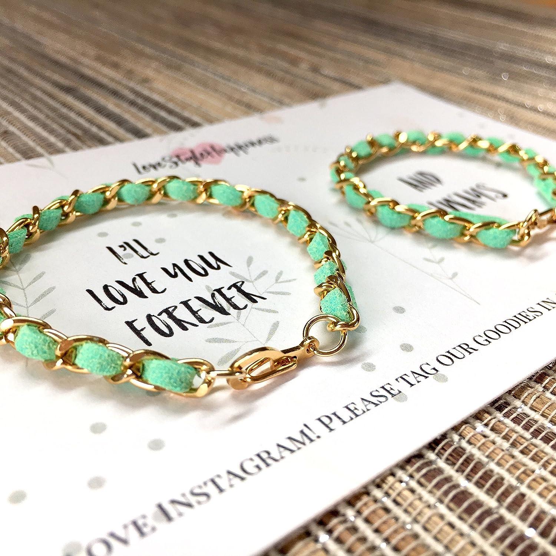Mommy and Me Bracelet Set, Matching Bracelet Set, Woven Chain Bracelet