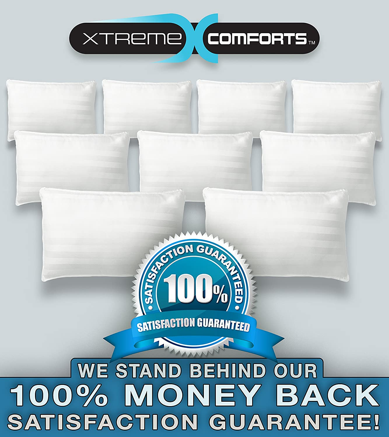 100% Bamboo Pillow - Adjustable, Perfect Comfort For Every Sleeper by Xtreme Comforts (Queen)