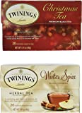 Twinings Tea - Christmas Tea & Winter Spice - 1 Box Each, 20 Tea Bags Per Box