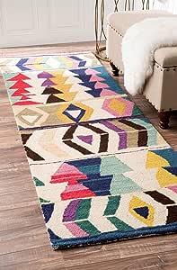 Nuloom Ofelia Hand Tufted Wool Runner Rug 2 6 X 8 Multi Furniture Decor Amazon Com