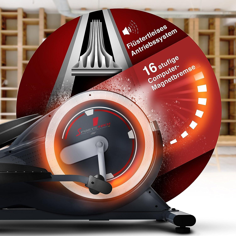 Sportstech CX650 Profi Escaladoras ellipsentrainer stepper con smartphone App entrenar/hogar entrenador, La inercia de 26 kg, 5x HRC - 22 programas de ...