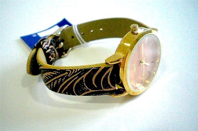 Sami RSM-81210-4 Reloj de Pulsera de Mujer Corona Cristal Correa Piel Marron: Amazon.es: Relojes