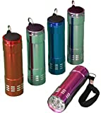 Pack of 5, Mini Keychain LED Pocket Flashlight, Assorted Colors, Small and Super Bright, Best for Camping, Backpacking, Hiking, Hunting, Fishing, EDC, Kids, Children, Boys, Girls, Tool, and Emergency