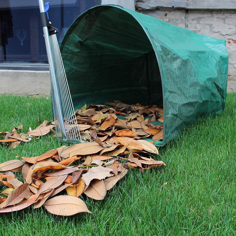 Garten M/üllsack mit Gel/änder Yards Abfallbeutel FRFJY 53 Gallonne Garten Laub Tasche Wie abgebildet Yards Schaufel f/ür Kollektion Bl/ätter