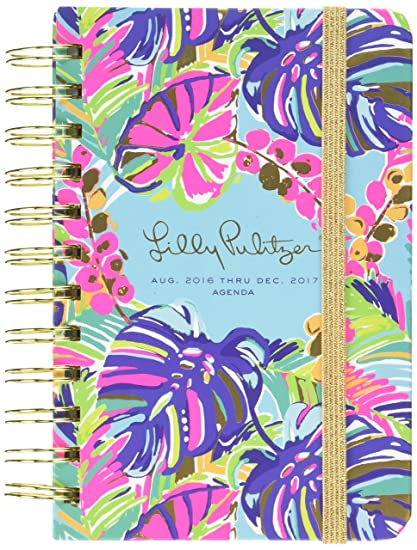 Lilly Pulitzer Pocket Agenda, Exotic Garden (AUG.2016 THRU DEC.2017)