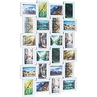 Relaxdays Cadre Photos Pêle-Mêle 24 Photos Galerie Mur Cadre Mural Hxlxp: 59 x 86 x 2, 5 cm, Plastique