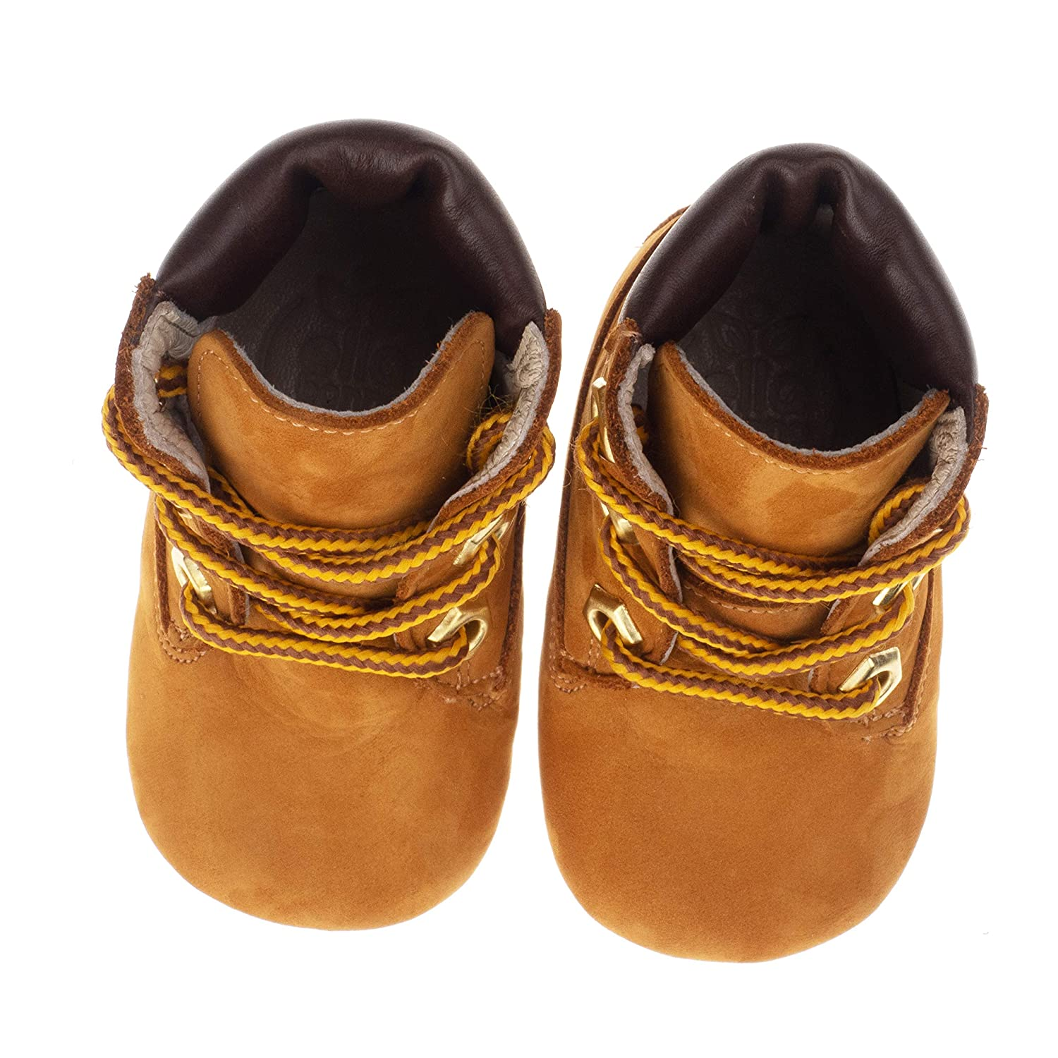 Ella Bonna Baby Boots for Baby Boys Girls Breathable Make Cowhide Leather Hand-Sewn Designer Boots Full Grain Leather Soft Insole and Sole Handmade Boots