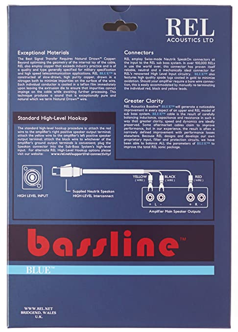91Kb4eqB1ML._SY679_ amazon com rel acoustics bassline blue subwoofer cable, 3 meter rel speakon wiring diagram at readyjetset.co