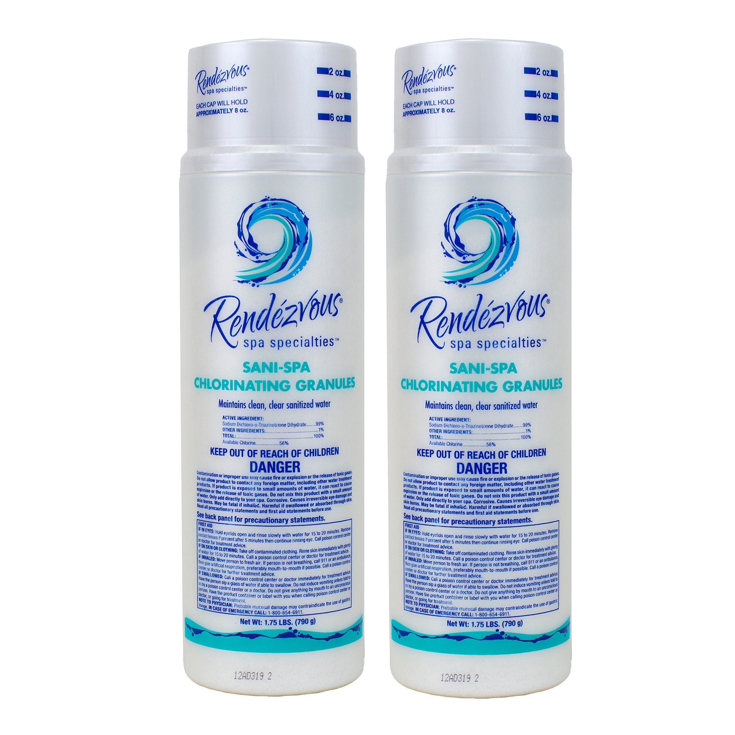 Rendezvous Spa Specialties Sani-Spa Chlorinating Granules (1.75 lb) (2 Pack)