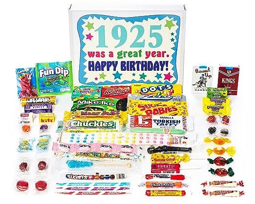 1925 92 ND Cumpleaños Caja de Regalo de Nostalgic Candy ...