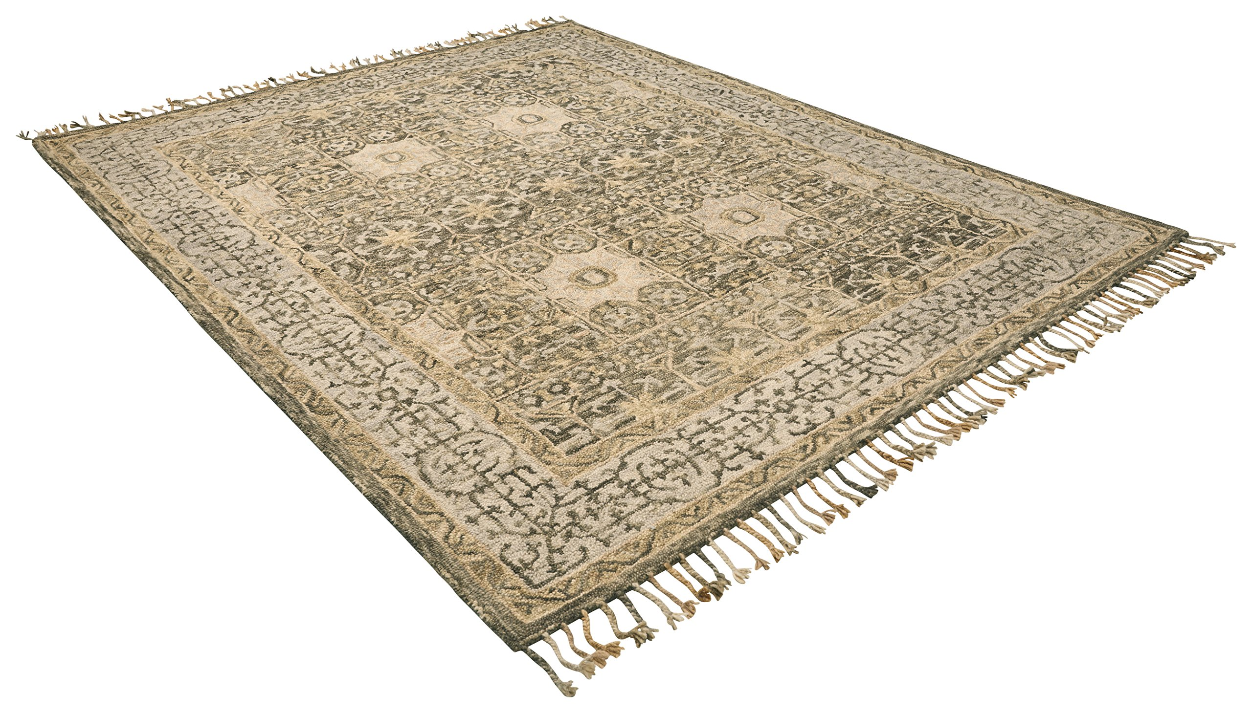 Stone & Beam Kelsea Transitional Wool Area Rug, 8' x 10', Beige and Grey by Stone & Beam (Image #5)