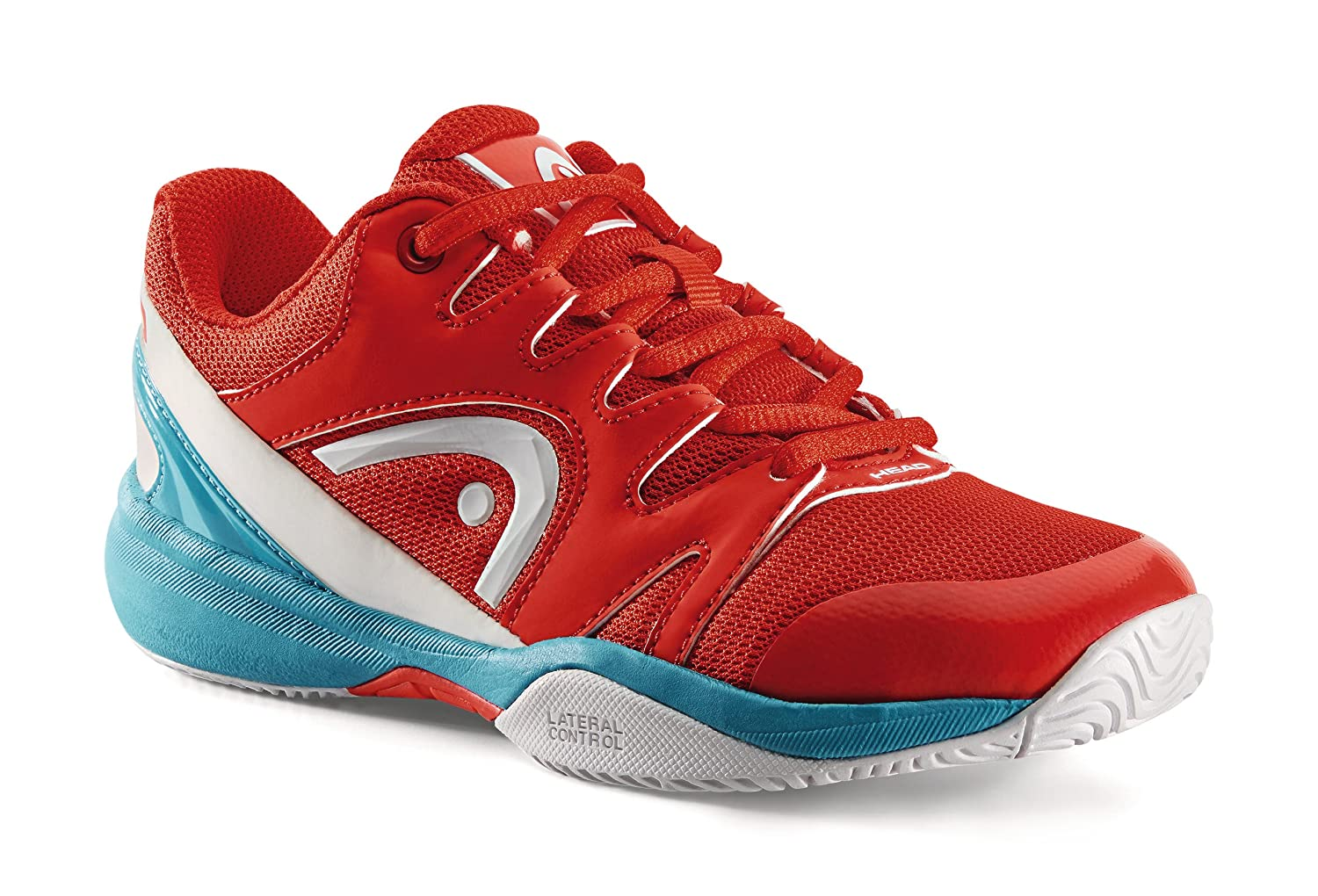 Head Junior Tennisschuhe NZZZO All Court Red/Malibu-Blue: Amazon ...