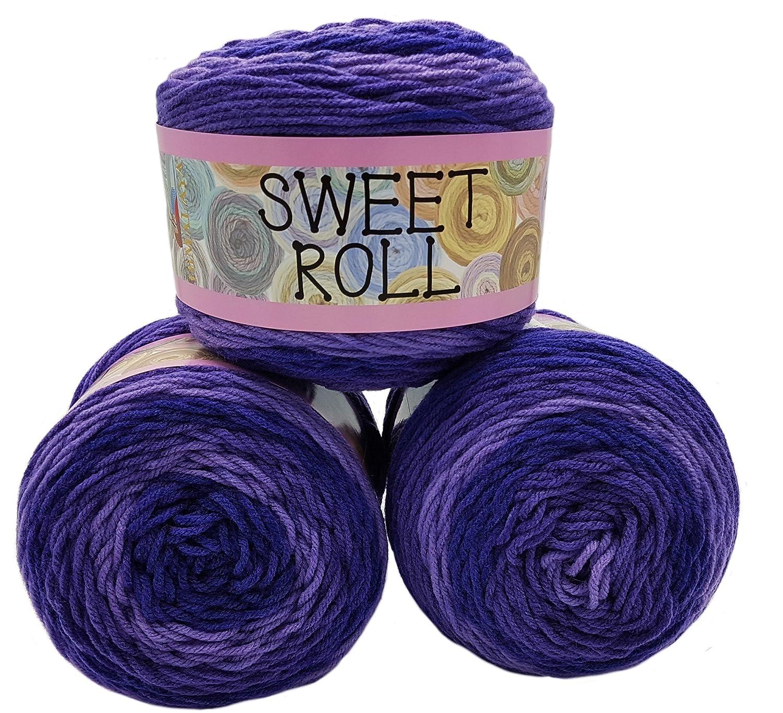 Lot de 3 pelotes de 140g de laine à tricoter Himalaya Sweet Roll dégradé Multicolore