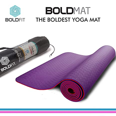 00fdf04d185 Bold Fit Pro-Grip all purpose Yoga Mat for men and women, (6mm) Extra Thick  Exercise Mats for Workout Yoga Fitness Pilates Meditation and Floor  Exercises, ...