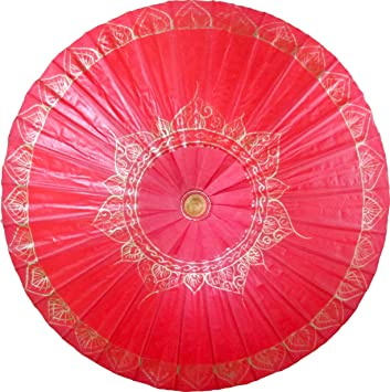 Amazon.com: oriental-decor Rojo pintado a mano tradicional ...