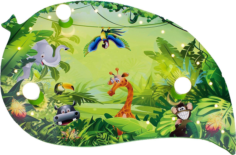 Elobra Kinderlampe Deckenleuchte Blatt Wildnis Dschungel mit LED ...